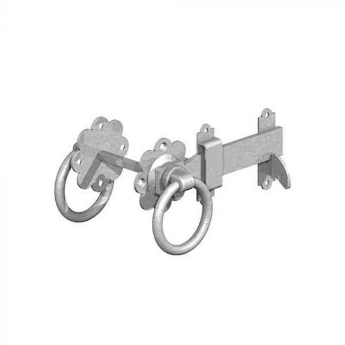 Ring Gate Latch Galvanised Plain Handle