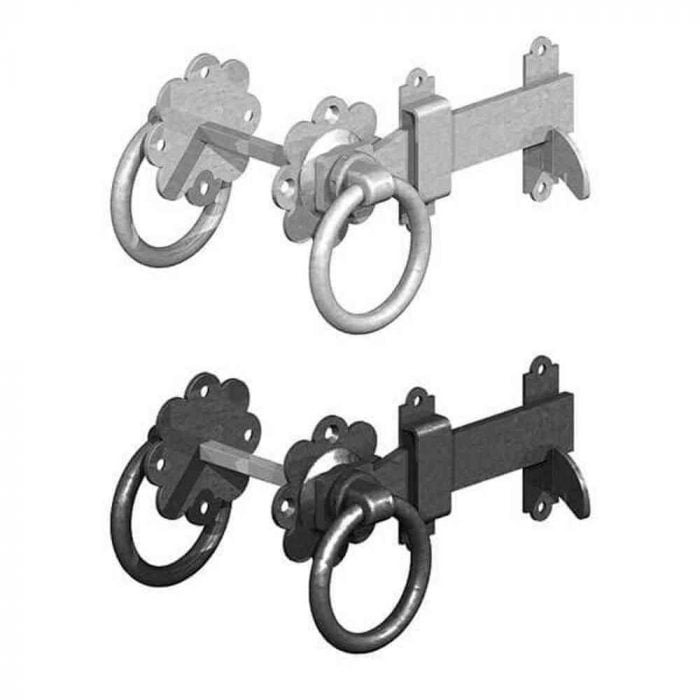 Ring Gate Latch Plain Handle