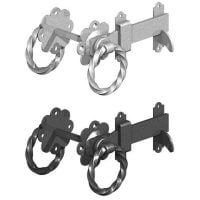 Twisted Handle Ring Gate Latches