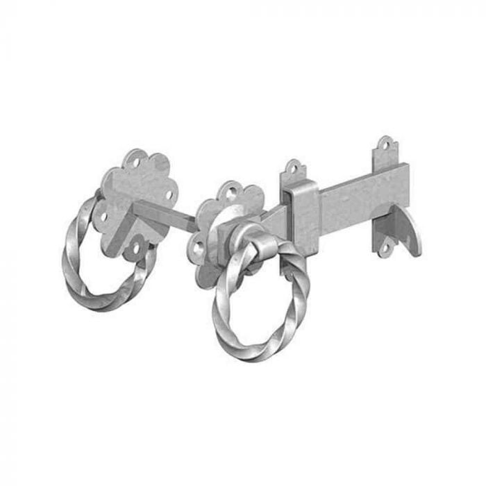 Twisted Handle Ring Gate Latches Galvanised