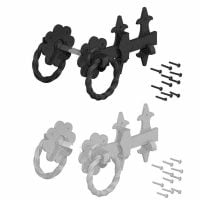 Ornamental Twisted Ring Gate Latches