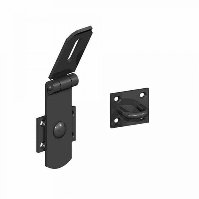heavy swivel locking bars black